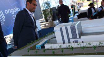 António Nunes, CEO da Angola Cables, durante o evento de lançamento da pedra fundamental do data center
