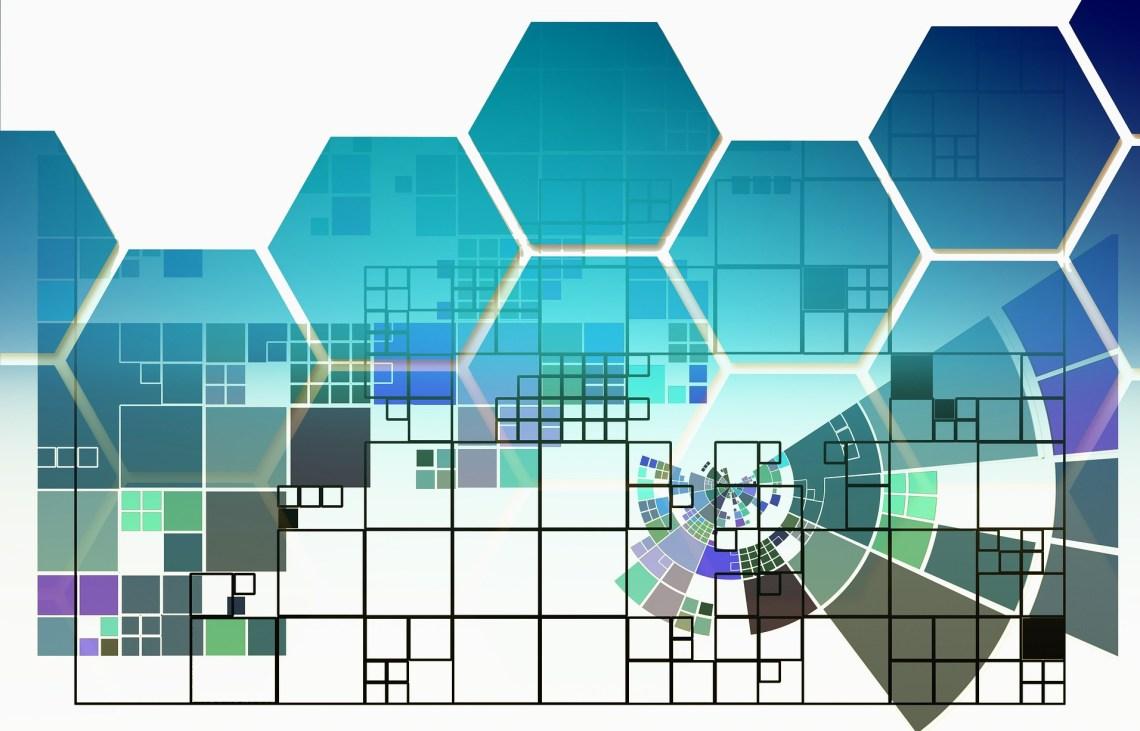 abstrata-quadrado-colmeia