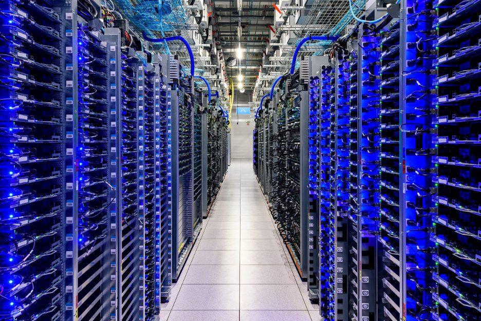 Foto de um dos data centers do Google