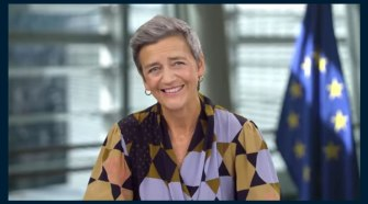 Margrethe Vestager, vice-presidente da Agenda digital da União Europeia, durante o Painel Telebrasil - Crédito: Divulgação
