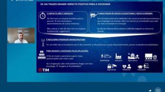 Pietro Labriola, CEO da TIM e presidente da Conexis, no painel Telebrasil - Foto: Divulgação