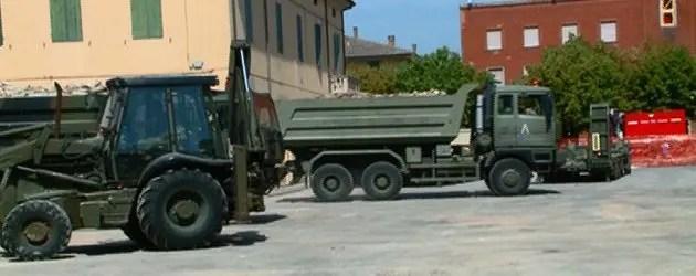 Poggio, esercito in azione nel municipio devastato