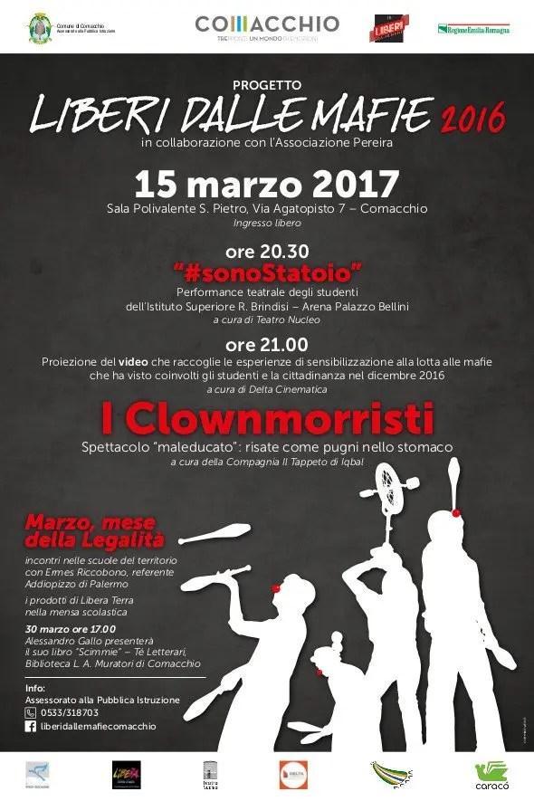 #Sonostatoio e #Iclownmorristi, serata a palazzo Bellini per dire no alle mafie