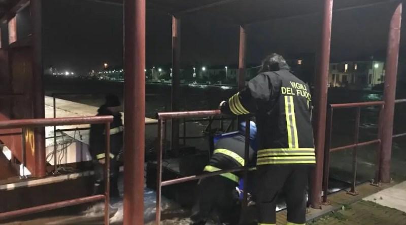 vigili fuoco allagamenti porto garibaldi comacchio