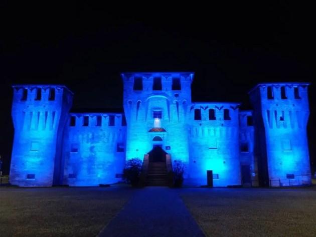 La Rocca si colora di blu per la giornata della consapevolezza dell'autismo