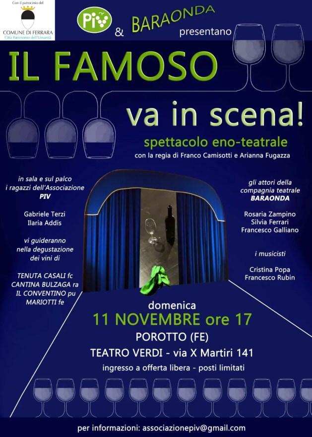 """""""Il Famoso va in scena!, spettacolo eno-teatrale a Ferrara"""