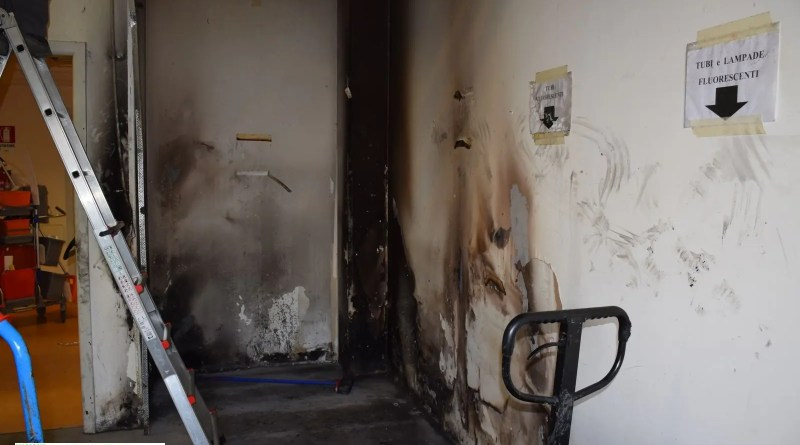 incendio ospedale cona