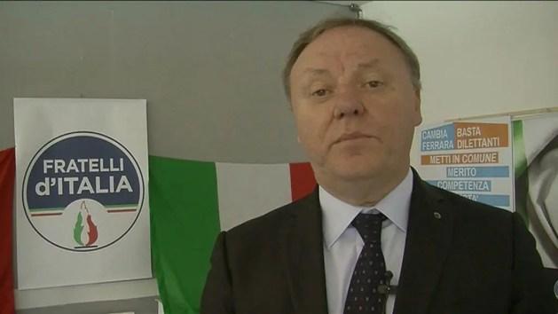 Sergio Berlato a Ferrara, candidato alle Europee nella lista di F.lli d'Italia – VIDEO