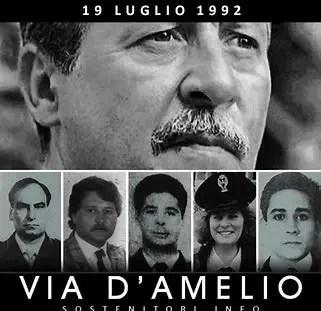 27 anni in via D'Amelio la mafia uccideva  Paolo Borsellino e i 5 agenti della sua scorta.