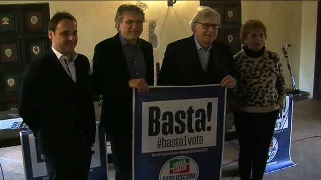 Forza Italia: Vittorio Sgarbi capolista tra i consiglieri regionali – VIDEO