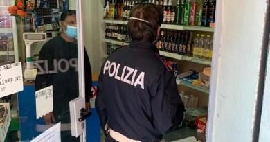 minimarket ferrara polizia