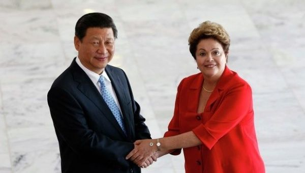 Xi Jinping and Dilma Rousseff (Source: Reuters)