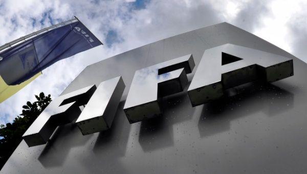 Federation International Football Association logo at the headquarters in Zurich, Switzerland. (Photo:AFP)