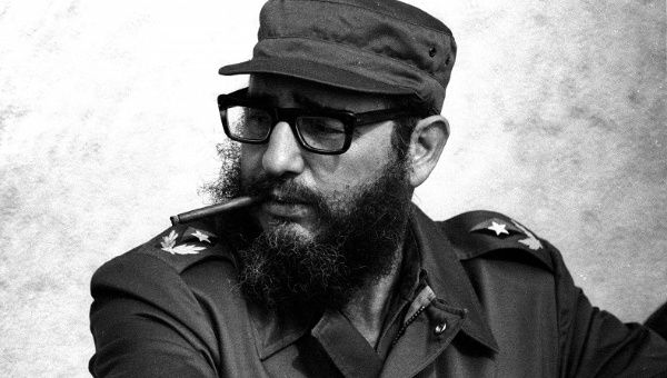 Fidel Castro attends manuevres during the anniversary of his and his fellow revolutionaries arrival on the yacht Granma in November 1976.