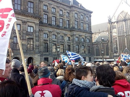 At Royal Palace, Dam Square, Amsterdam.