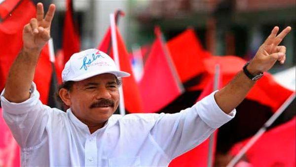 El presidente Daniel Ortega con alto porcentaje de popularidad en Nicaragua.