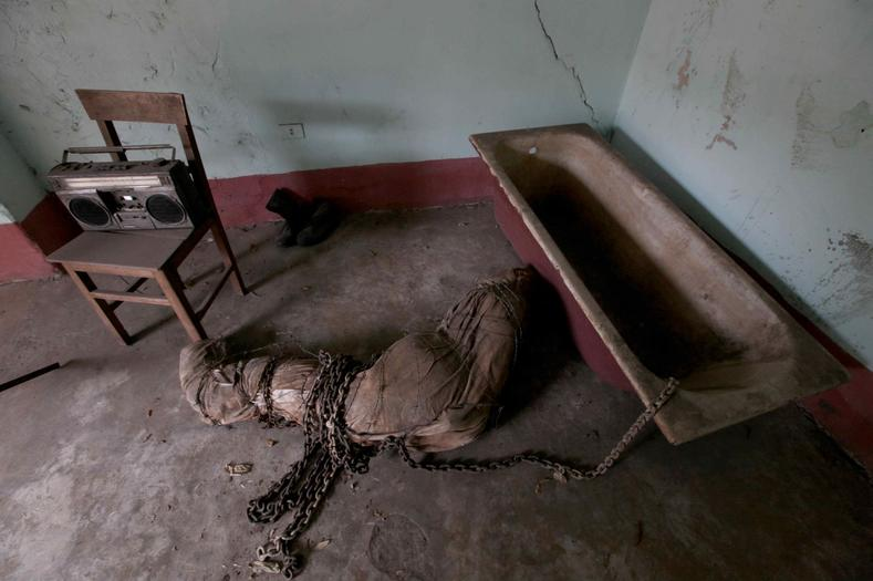 One of the cells used during the reign of Paraguayan Dictator Alfredo Stroessner, now a museum in Asuncion dedicated to those murdered under Operation Condor.