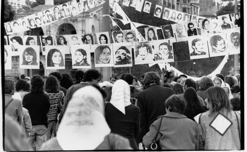 Photographs of the disappeared in Argentina.