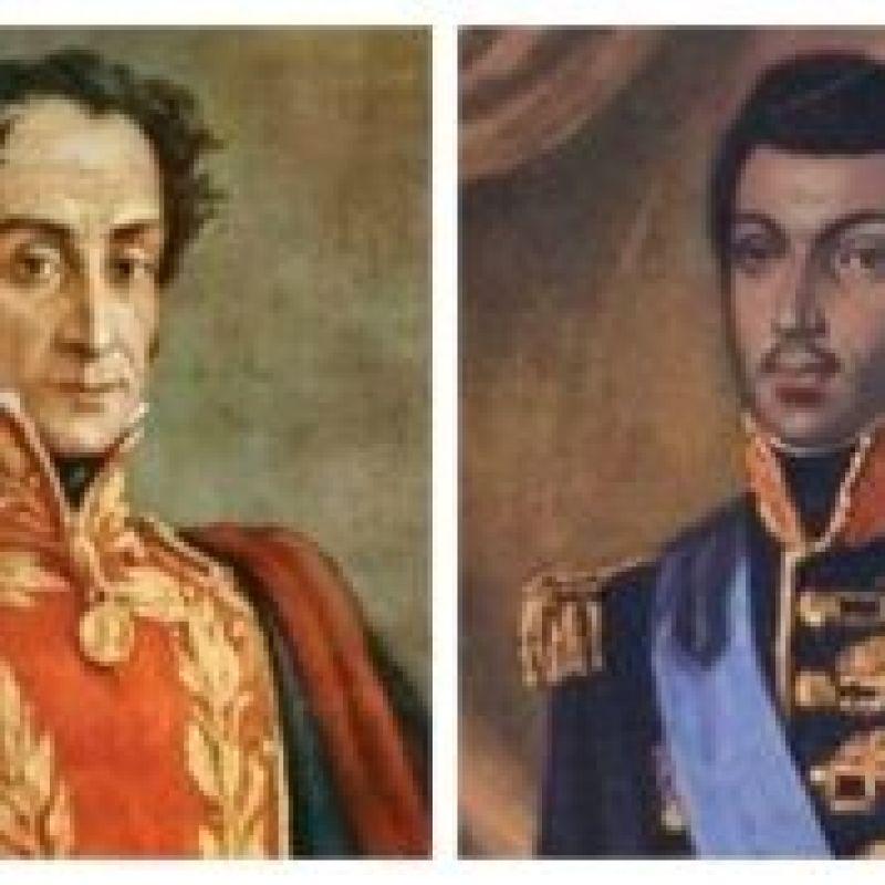 Portraits of Simon Bolivar and Haitian General Alexander Petion
