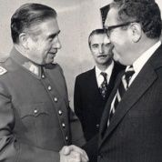 U.S. Secretary of State Henry Kissinger with Pinochet in 1976.