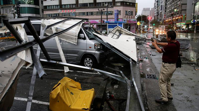 El impacto de Meranti ha sido el tifón más fuerte que ha afectado a la isla en los últimos 21 años.