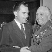 Dictator Trujillo with Richard Nixon during his visit to the Dominican Republic in 1955.