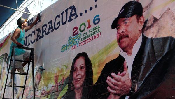 Ortega se presenta junto a Rosario Murillo a las elecciones presidenciales.