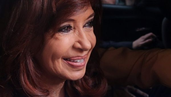 Former Argentine President Cristina Fernandez leaves her home to go to court in Buenos Aires, Oct. 31, 2016.