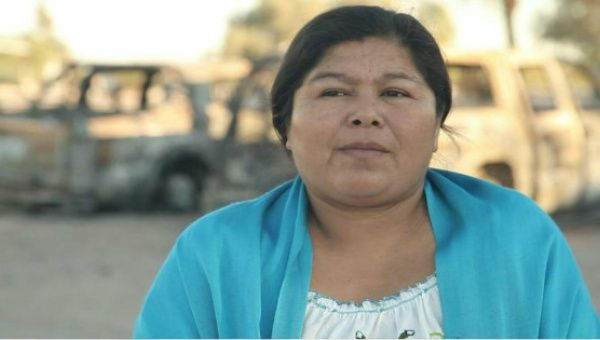 Human Rights lawyer and legal representative for the Yaqui Tribe, Anabela Carlon Flores