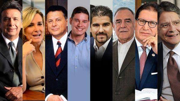 Resultado de imagen para candidatos a la presidencia ecuador