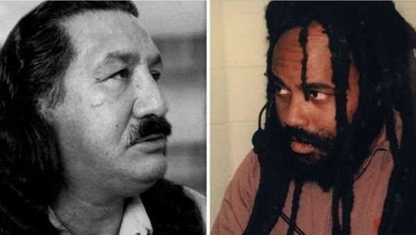 Black activist Mumia Abu-Jamal and Indigenous activist Leonard Peltier