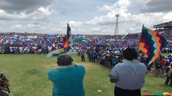 Organizaciones sociales realizan todos los preparativos para la celebración y para ratificar su compromiso con el presidente Evo Morales.