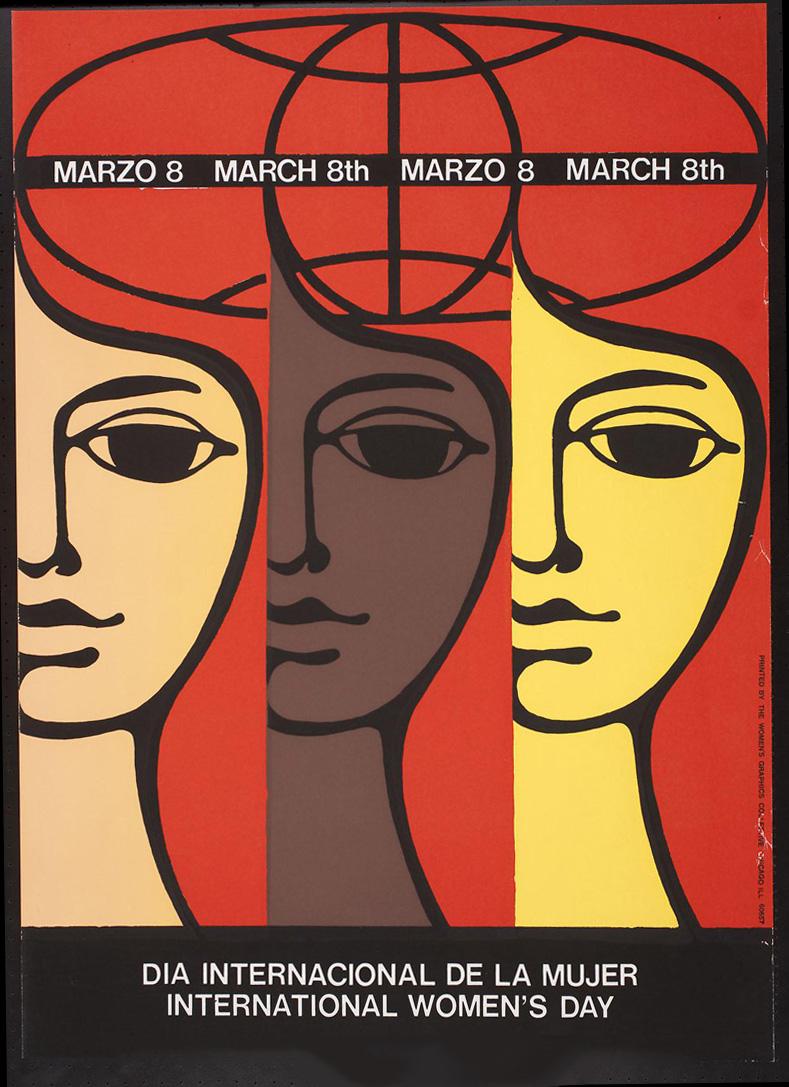Cuban poster art marking International Women