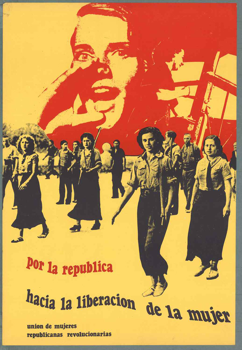 "Spanish Civil War-era poster: ""For a Republic That Advances the Liberation of Women!"""