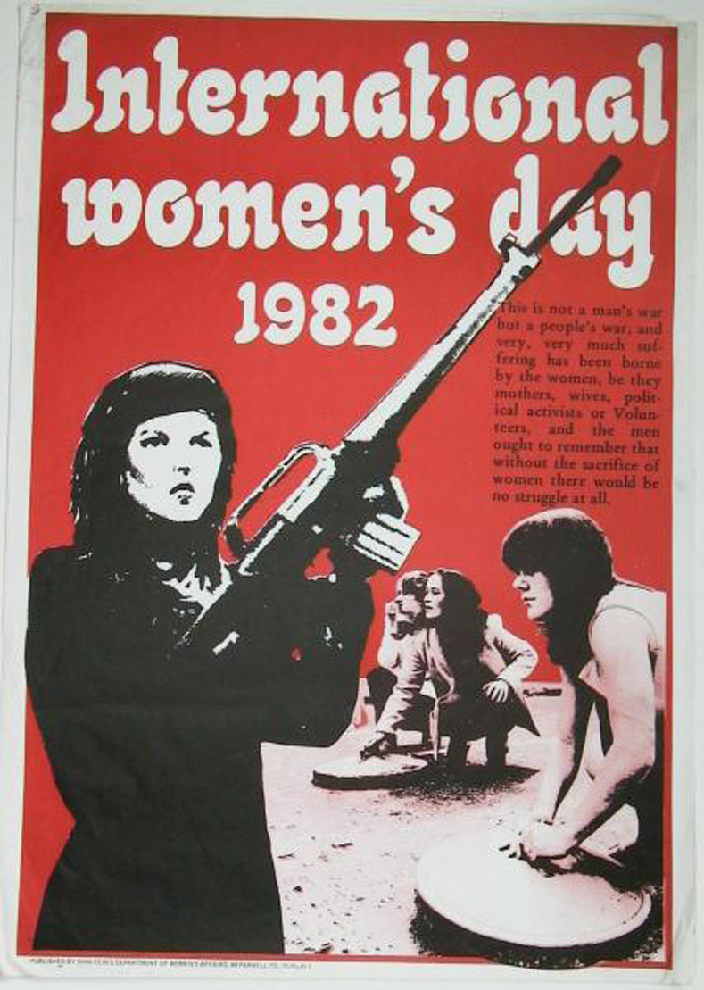 A poster highlighting the part played by women in the Republican Movement by Sinn Féin Department of Women