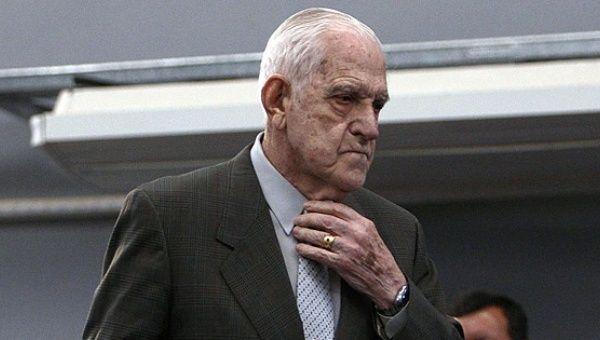 Former Argentine military dictator Reynaldo Bignone.