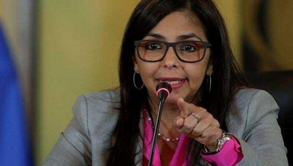 Venezuelan Foreign Minister Delcy Rodriguez.