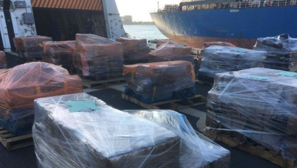 The 16 tons of cocaine has an estimated value of $420 million.