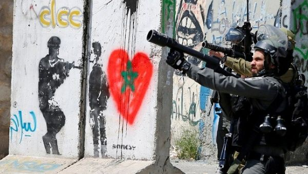 Israeli forces take position as they crack down on Palestinian protesters in solidarity with Palestinian prisoners.