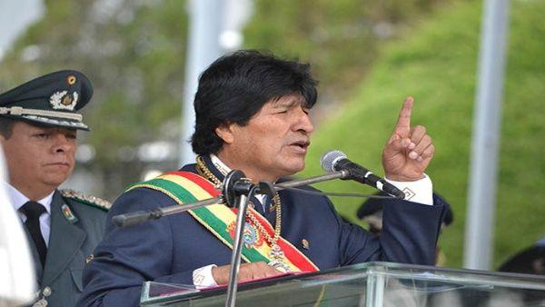 Morales explicó que la economía del capitalismo ahora depende de la guerra.