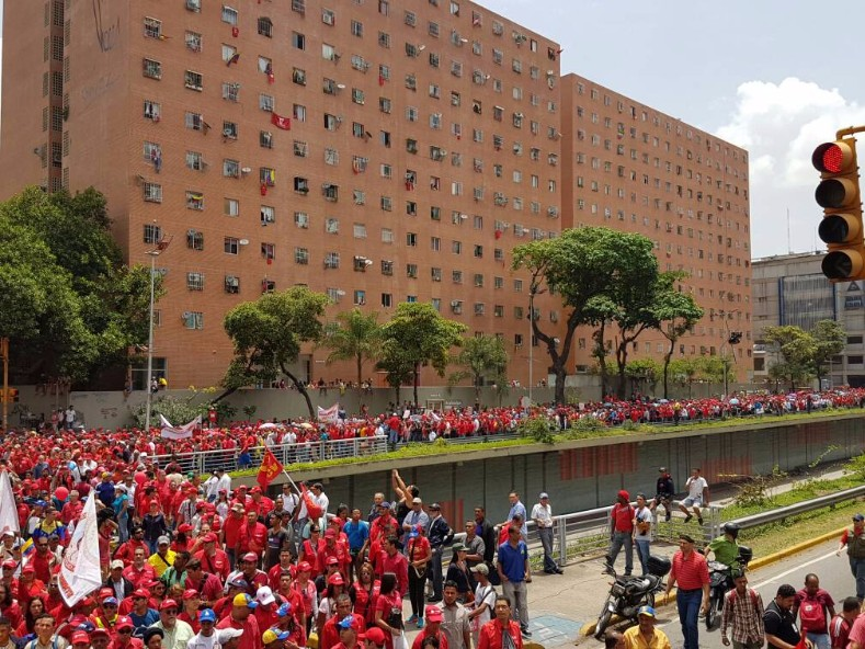 Maduro said the pro-government marches would mark the largest seen in the country