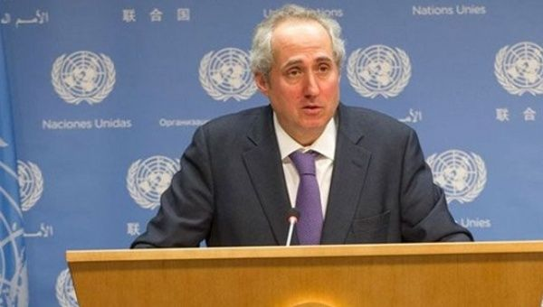 Stephane Dujarric, spokesperson for U.N. Secretary-General Antonio Guterres.