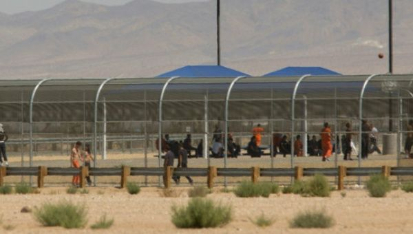 Undocumented Immigrants at the US Immigration and Customs Enforcement (ICE) Adelanto Detention Facility in Adelanto, California on September 6, 2016