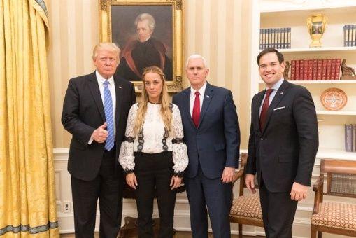 La esposa de Leopoldo López estuvo en la Casa Blanca.