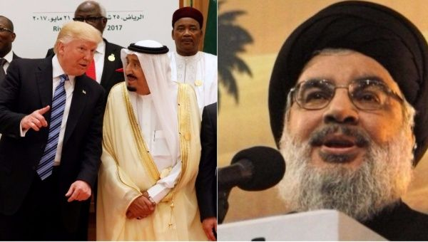 """""""Why all this honoring to Trump by the Saudis, knowing that he is the U.S. President who mostly offended Arabs, Muslims, Gulf countries, and Saudis in his electoral campaign?,"""" Nasrallah asked."""