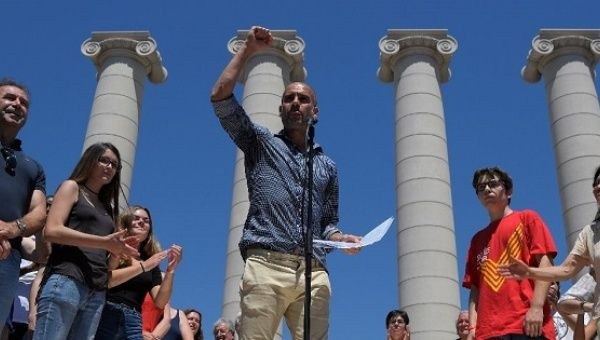 Former FC Barcelona coach Pep Guardiola called for international support for the Catalan independence referendum.