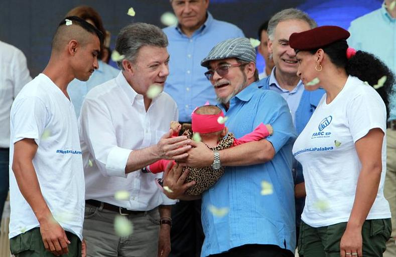 """""""We have reached the dreams of our children. This is the legacy we will leave new generations,"""" President Santos wrote on Twitter."""
