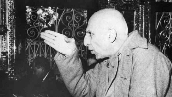 Former Prime Minister of Iran, Mohammad Mosaddegh.