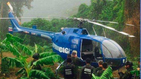 El helicóptero con el que se realizó el atentado fue localizado este miércoles en el estado Vargas.