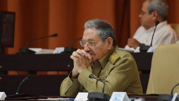 Cuban President Raul Castro at the country